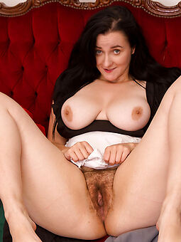 harpy  big tits all over hairy pussy