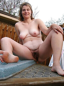 naked hairy women outdoors stripping
