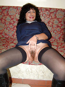 mature stockings hairy tease