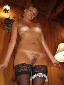 natural hairy in stockings